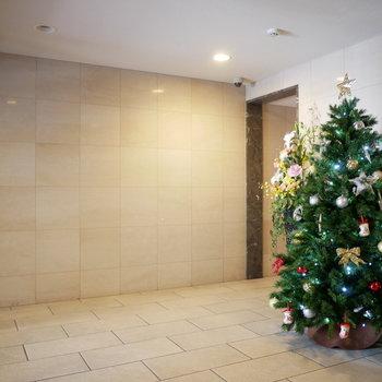 エントランス。今はクリスマス仕様♪(※写真と文章は前回募集時のものです)