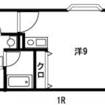 ワンルームですが、家具の配置がしやすそう◎