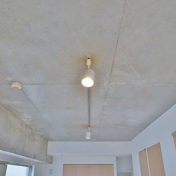 コンクリの天井にダウンライト◎