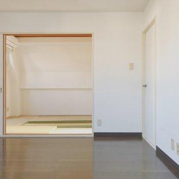 【工事前】現在の和室と洋室の間の壁は取り払います