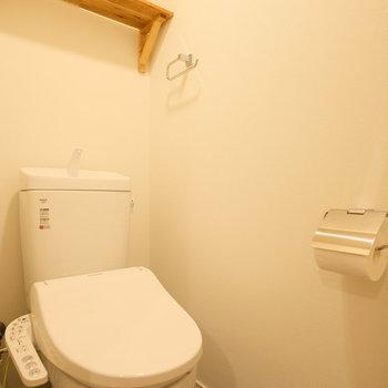 トイレにはもちろんウォシュレット付き。
