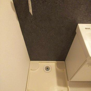 洗濯機置場は脱衣スペース近くに◎※写真は3階の反転間取り別部屋のものです