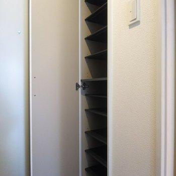 大容量のシューズクロークも嬉しい!※写真は3階の反転間取り別部屋のものです