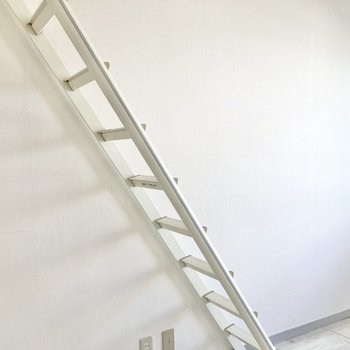 梯子は角度がついているので上りやすかったです。
