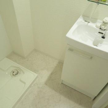 洗面脱衣所も完備