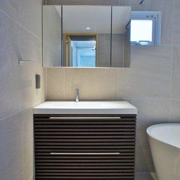 収納もしっかりある洗面台※写真は前回募集時のもの。