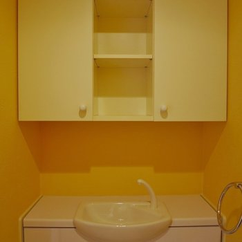 トイレにもしっかり収納付き!※写真は同タイプの別室