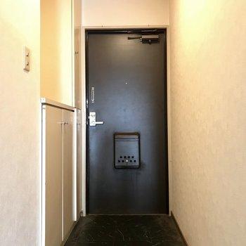 玄関はファミリーだったら小さめかな?(※写真は清掃前のものです)