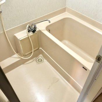 お風呂もシンプルな感じ。ただ壁紙が綺麗になりました!