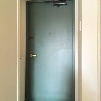 グリーンがポイントの玄関ですよ。