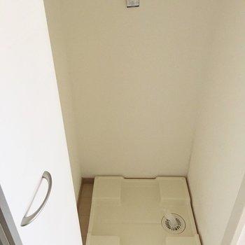 洗濯機置き場は隠しちゃって。