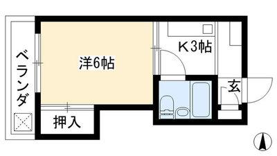 京都四条グランドハイツ(分譲賃貸) の間取り