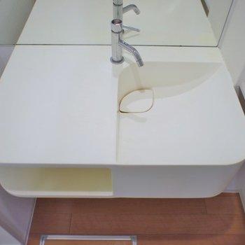 横には洗面用品を置けますね