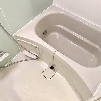 お風呂は1人サイズ。※写真は3階の同間取り別部屋のものです