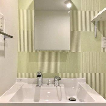洗面台はモノを少なめに、すっきりさせたいです。※写真は3階の同間取り別部屋のものです
