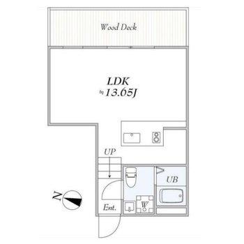 対面キッチンの1Rのお部屋です。