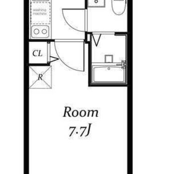 1Kのお部屋になります