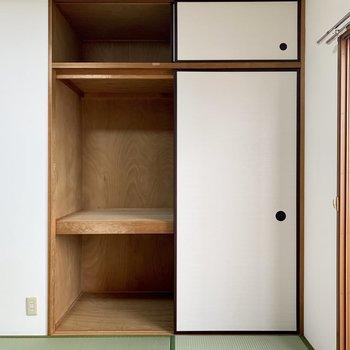 【和室】大きな物など入れておくといいですね。※写真は3階の同間取り別部屋のものです