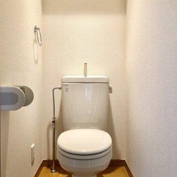 お手洗い付きのトイレです。