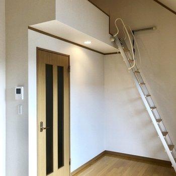 天井が高いのでお部屋が広く感じます!ロフトへ登ると…