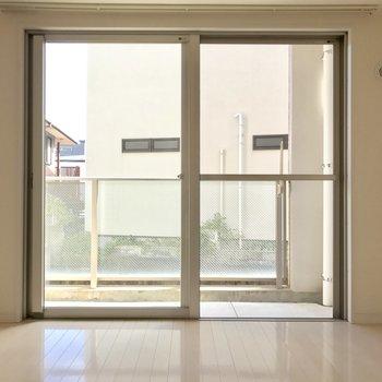 欄干がガラスなので開放感が増す!