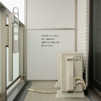 バルコニーの柵は、優しくひかりが入るようになっていて◎※写真は4階の同間取り別部屋のものです