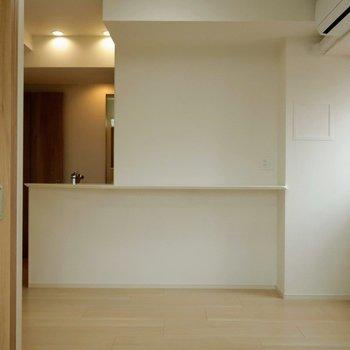 カウンターがついていて、これはよさそう。※写真は4階の同間取り別部屋のものです