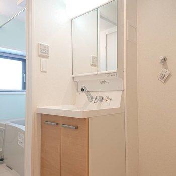 二面鏡便利ですよね〜※写真は4階の同間取り別部屋のものです