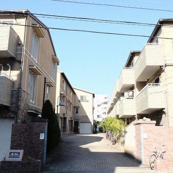 ヨーロピアンな集合住宅。