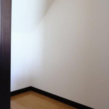 階段下収納、ボックスを置いてみてもいいかも。