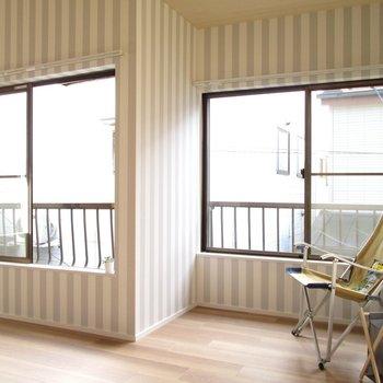 【2F大洋室】角ばったところは趣味に使おうかな〜※家具はモデルルームとなっています