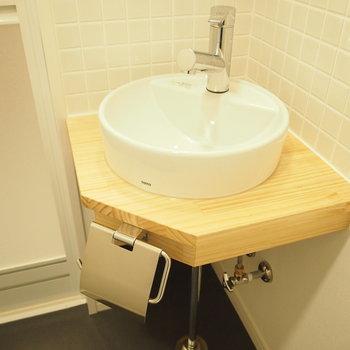 コロンとかわいい洗面台!