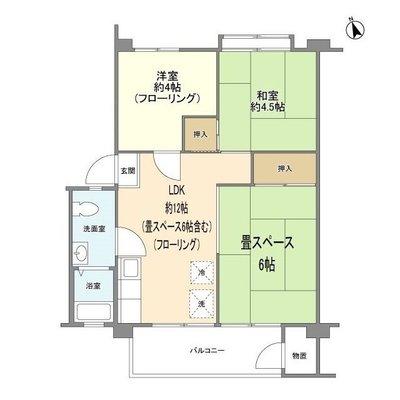 富士見町住宅17号棟の間取り