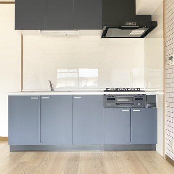 キッチン左横に冷蔵庫や食器棚置けそうです