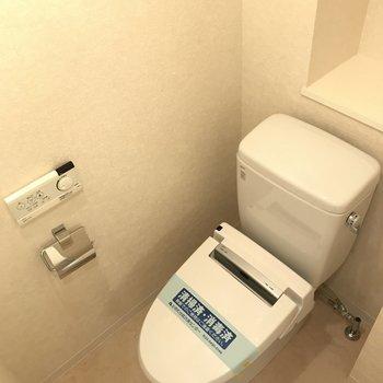 ウォシュレット付トイレ!※写真は10階の同間取り別部屋のものです