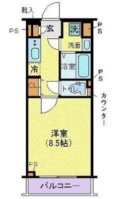 高円寺の空の庭 の間取り