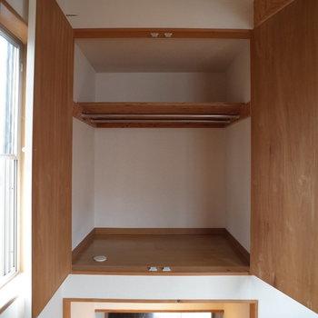 収納は奥行きはんぱないす※写真は1階の同間取り別部屋、清掃前のものです