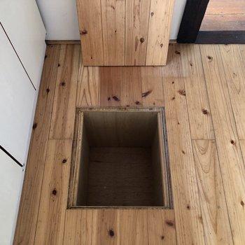 小さな床下収納がありました。