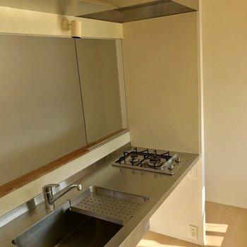 【LDK】キッチンは広めです。お料理捗りそう◎※写真は通電前のものです