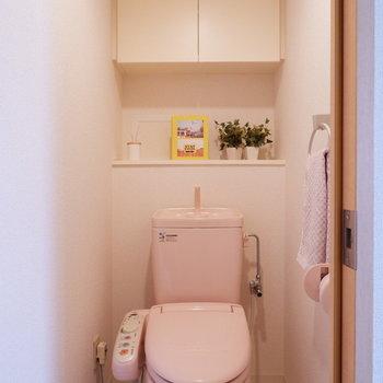 トイレはシンプルでございます