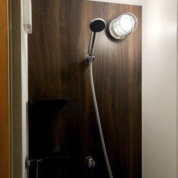 トイレの奥にシャワールーム。