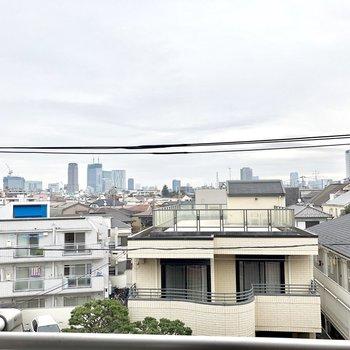 眺望はなかなか良いです!遠くに渋谷の有名なビルたちが見えます。