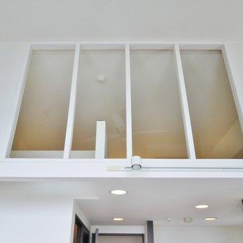 天井高い!ロフトから落っこちない様になってます。※写真は同間取り別部屋のものです。