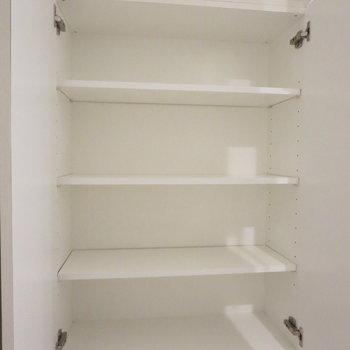【洗面台収納:下】収納がいっぱいあると助かりますよね〜※写真は前回募集時のものです。