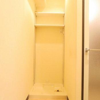 洗濯機置き場もしっかりと※写真は前回掲載時のものです。