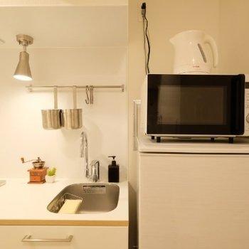 キッチン家電も揃っています