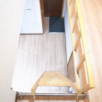 はしごは急なのでお気をつけて!