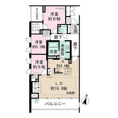 ザ・パークハウス鎌倉二階堂 の間取り