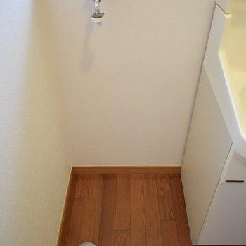 洗濯機はここに置きましょう!