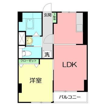 バルコニーもある1LDKのお部屋です。